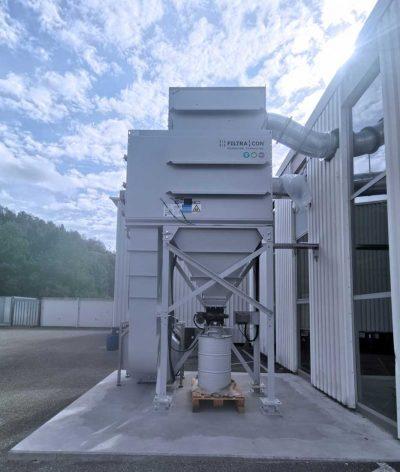 FILTRACON dust collector cartridge collector carbon machining ATEX Porrentruy
