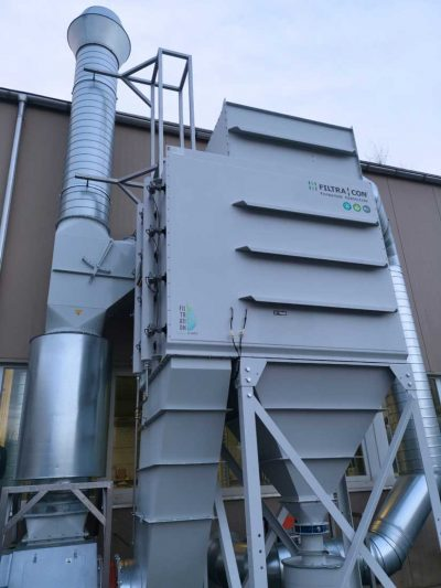 FILTRACON dust collector cartridge collector grinding of polymer concrete Gunzgen