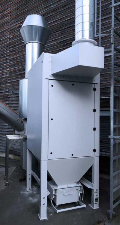 FILTRACON dépoussiéreur filtre à cartouche dépoussiérage nettoyage du réacteur Stans