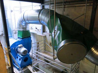 FILTRACON fume collector bag filter hot dip galvanizing zinc fumes Pratteln