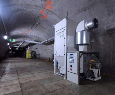 FILTRACON dust collector cartridge collector tunnel dedusting Faido