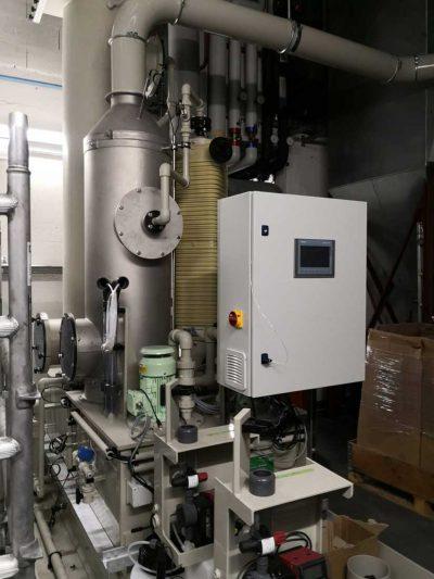 FILTRACON gas scrubber treatment of gas Le Crêt-du-Locle