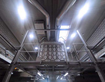 FILTRACON aspiration des fumées filtre à cartouche fonderie Lyss