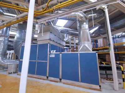 FILTRACON dust collection safety stage Hochdorf