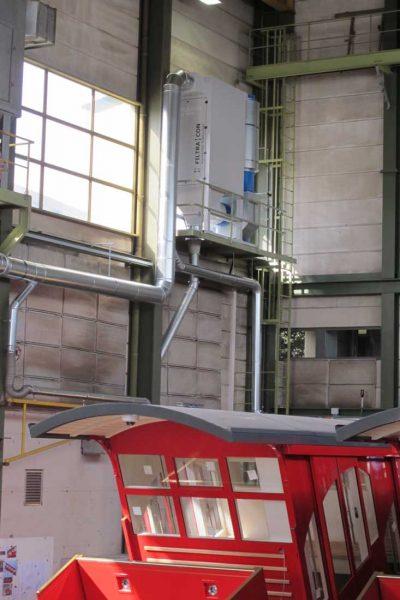 FILTRACON aspiration des fumées filtre à cartouche fumée de soudage chantier naval Luzerne
