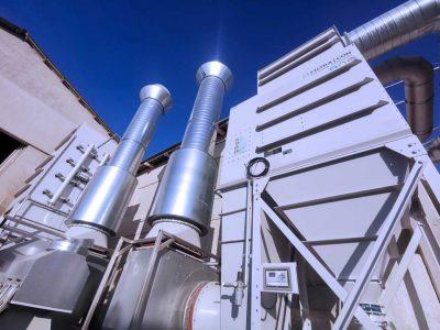 FILTRACON Entstaubung Patronenfilter Sandstrahlen und Hallenentlüftung Neuchâtel