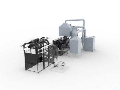 FILTRACON aspiration des fumées filtre à cartouche diffusion thermique Kestenholz
