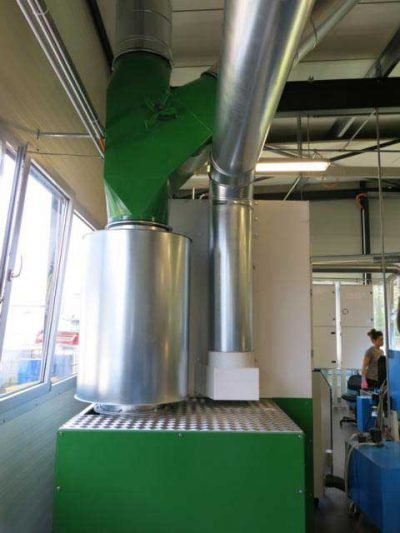 FILTRACON traitement air ambiant broillard d'huile usinage Bassecourt