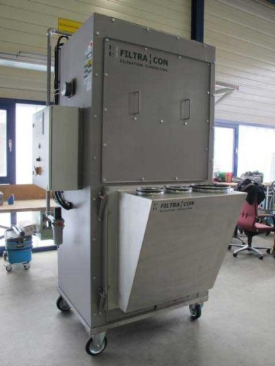 FILTRACON mobile dust extractor cartridge collector Kestenholz